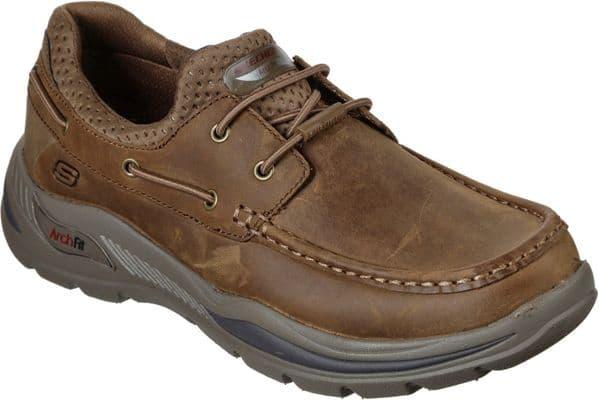 Skechers Arch Fit Motley Hosco Slip On Mens Shoes Desert